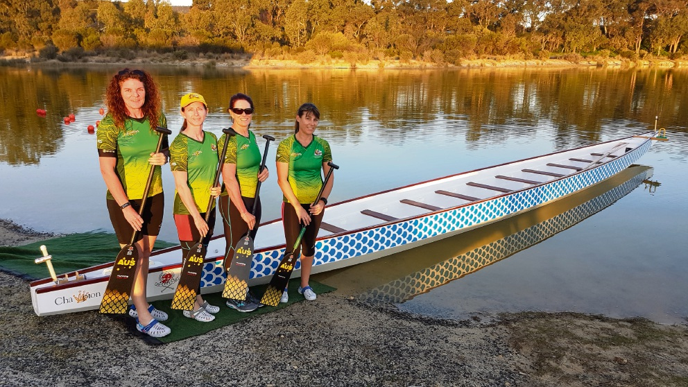 Dragon boat racers Carlie Byrne, Kristin Priest, Vivienne Wigg, Sharon Corsbie have their eye on selection to next month's world championships in China.