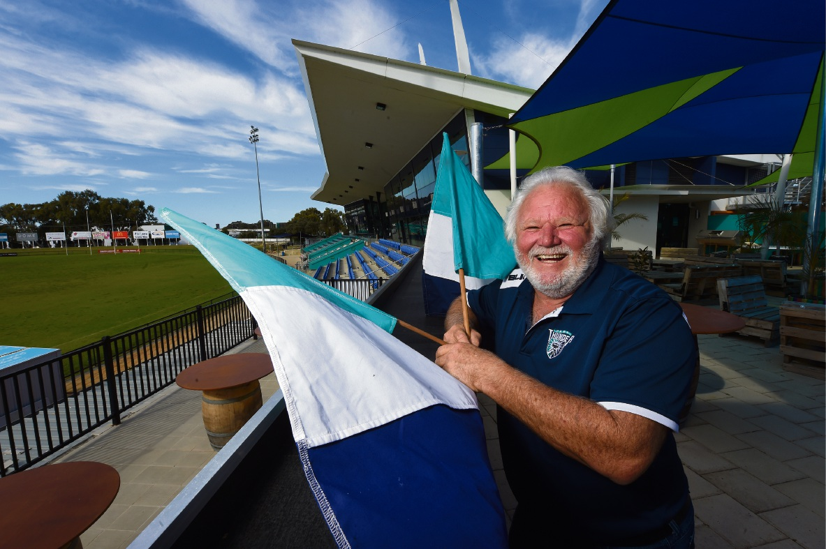 Geoff Campbell is Peel Thunder's biggest fan. Picture: Jon Hewson d473952