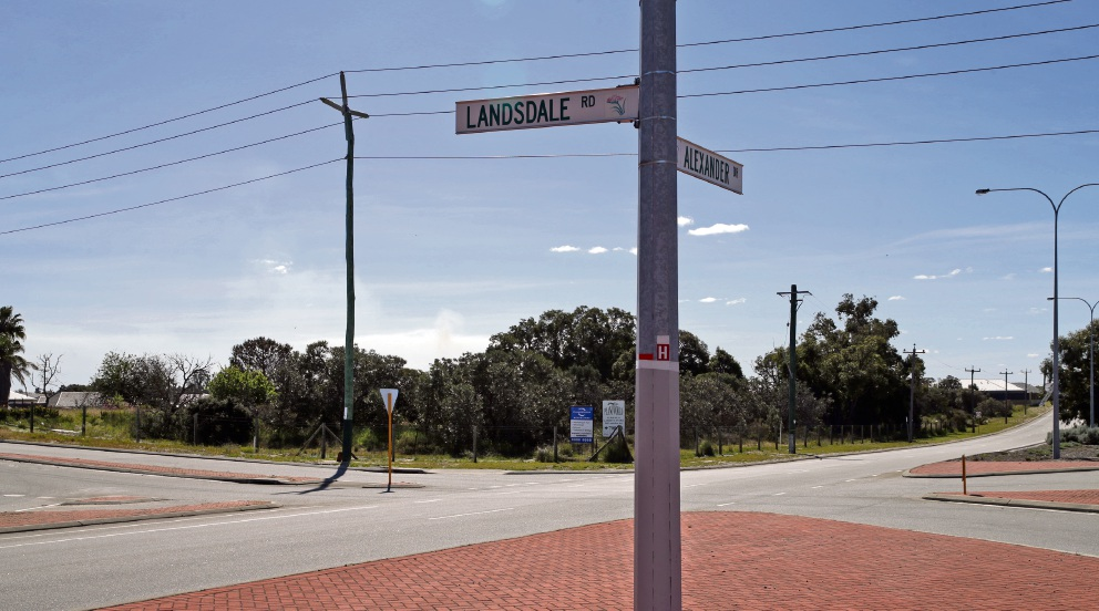 The land in question in Landsdale. Picture: Martin Kennealey d473581