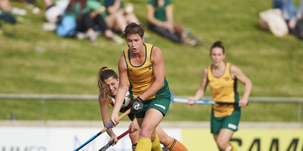 WASPS player Kathryn Slattery in action. Picture: Daniel Carson/dcimages.org/Hockey WA