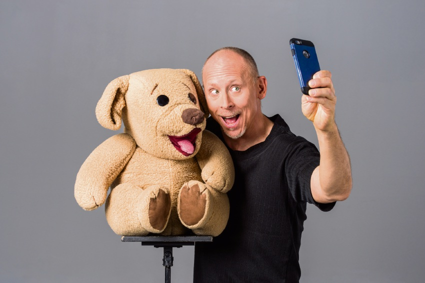 David Strassman with Ted E. Bear.