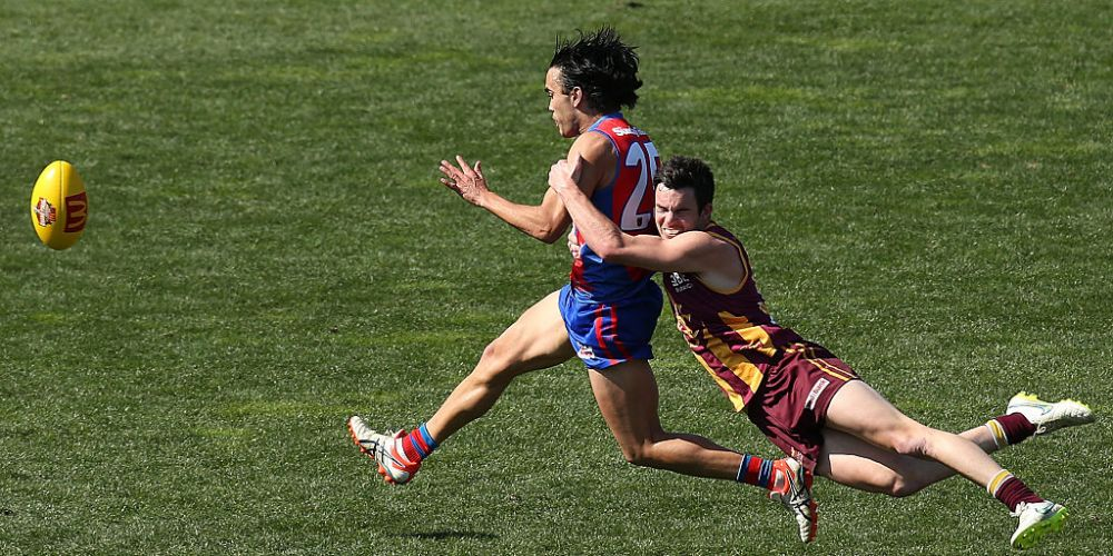 Kyle Halligan (right) could be out of the WAFL Grand Final. Photo: Getty