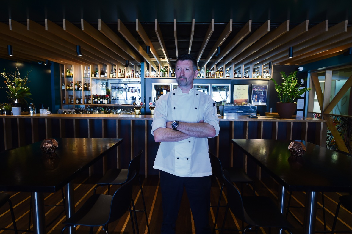 Richard Johnson, head chef at Rambla on Swan, which has been named Restaurant of the Year, loves keeping things clean and simple.  Picture: Jon Hewson www.communitypix.com.au   d473624