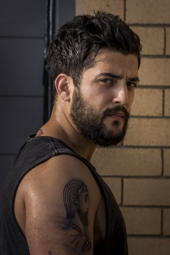 Perth actor Phoenix Raei in Australia Day.