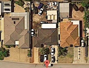 The home in Wannanup with the car bodies. Picture: Google Maps