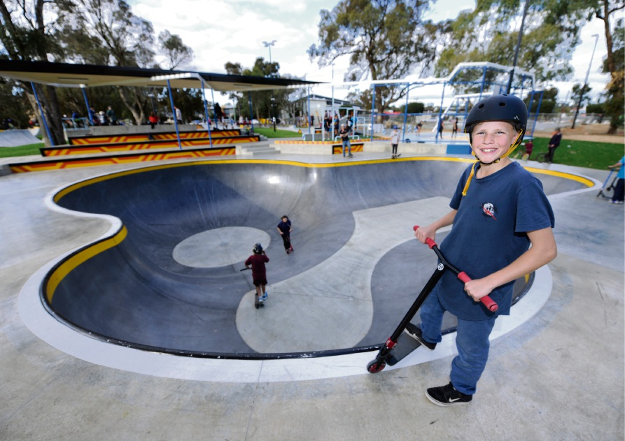 Brayden Green at the new Edge Skatepark in Kwinana.