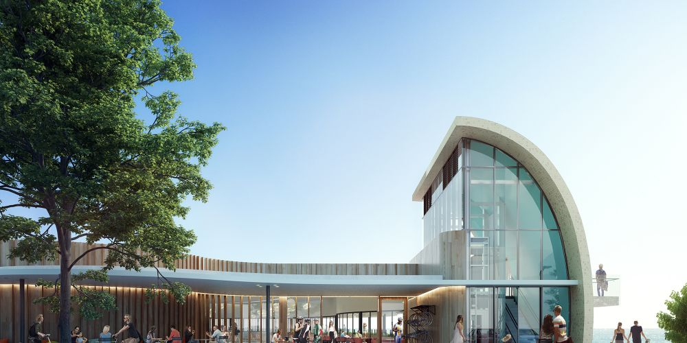 Artists' impression of the Scarborough Beach Pool precinct.