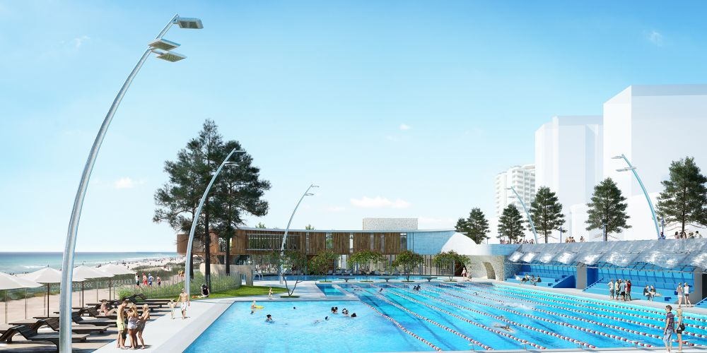 Artists' impression of the Scarborough Beach Pool.