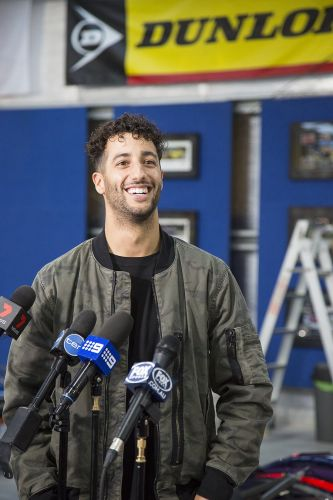 Daniel Ricciardo is back in Perth to spend time with family between the grands prix of Singapore and Malaysia.