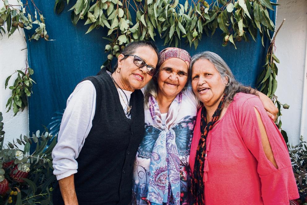 Northam poets Rosalie Quartermaine, Yvonne Kickett and Janet Kickett. Picture: Natalija Brunovs