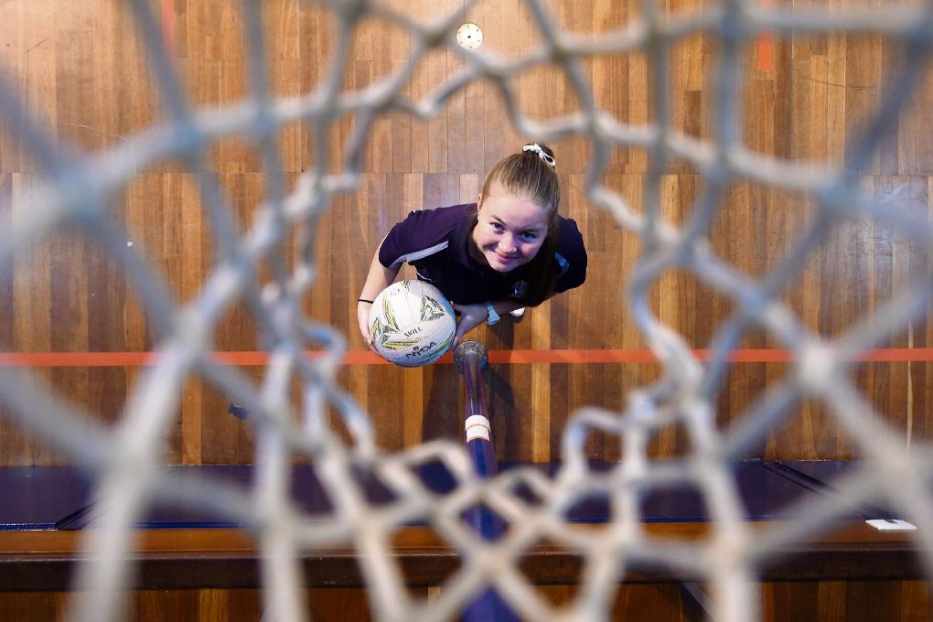 Netball umpire Tahlia Bennett. Picture: Jon Hewson d474005