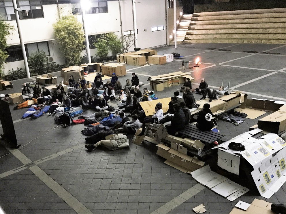 The Irene McCormack Catholic College winter sleepout.