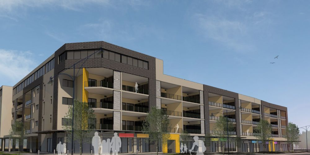 An artist's impression of the mixed use development in Butler.
