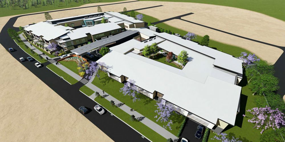 An artist's impression of the aged care facility in Alkimos.
