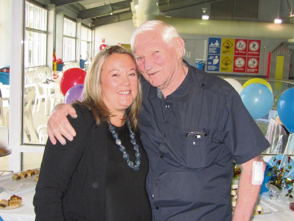Centre staff member Katie Dennison and Wilbur Graham.