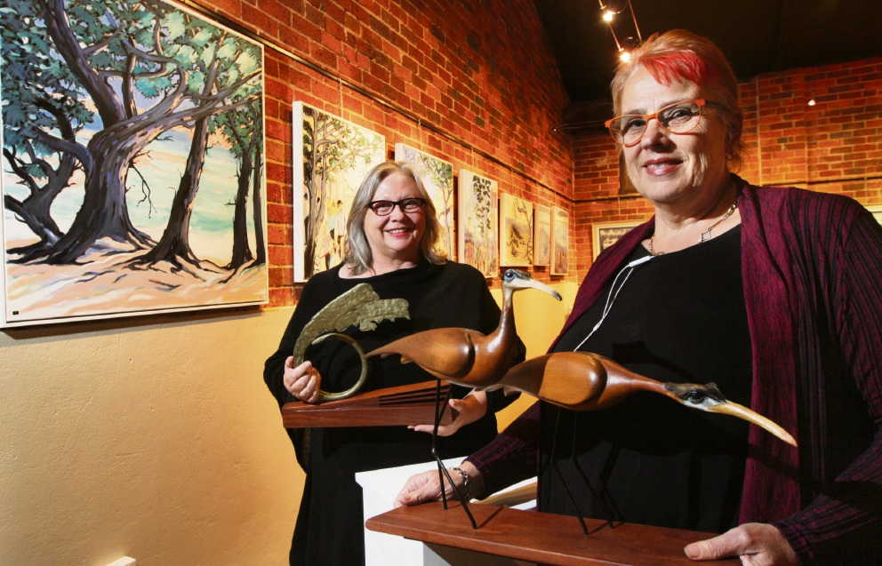 Belinda Kay and Janine Kuefoed, new managers at Houghton Wines Art Space. Picture: Bruce Hunt www.communitypix.com.au d473890