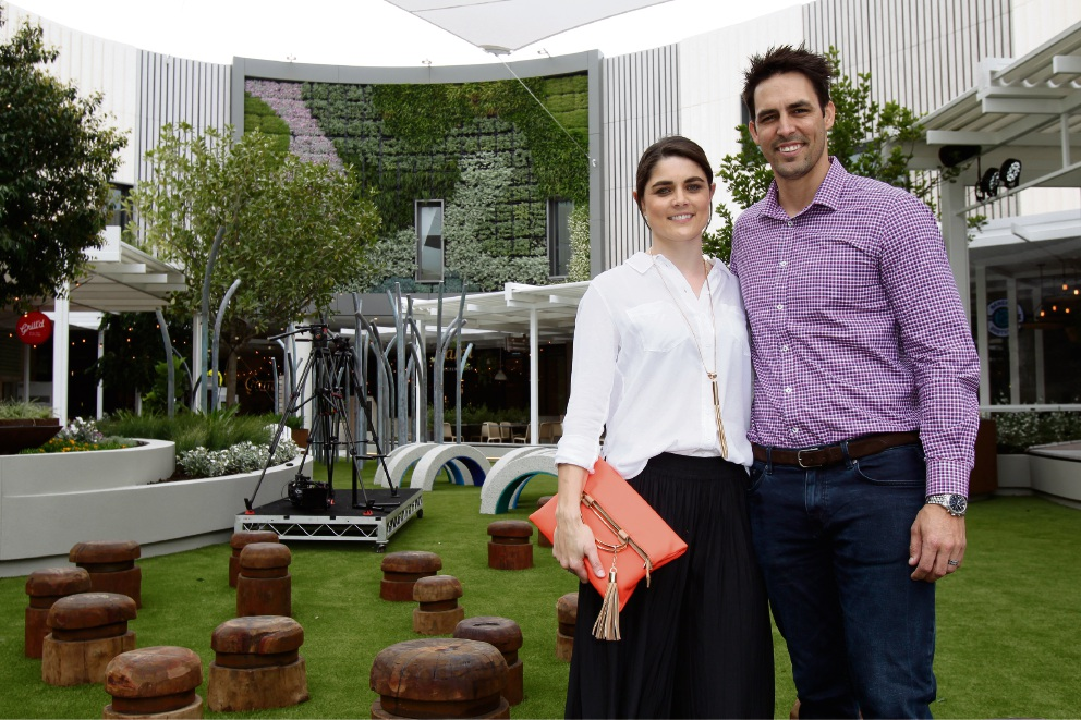 Enjoying the opening of Westfield Whitford City new dining and entertainment hub are Jessica Bratich Johnson and Mitchell Johnson. Picture: Marie Nirme d474221