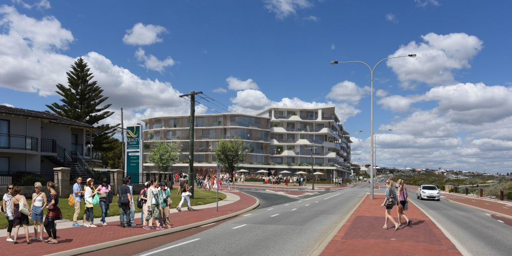 Artist's impression of the Sorrento Plaza development.