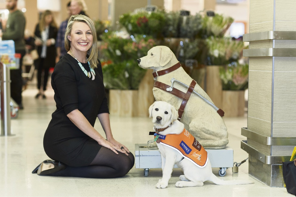 Guide Dogs Australia National Manager Sacha Koltun with Guide Dog Daisy. Picture: Supplied