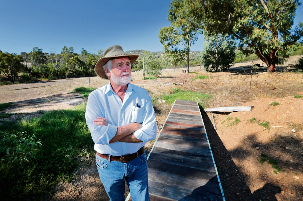 David Hughes is fighting a plan to build a 30m nbn tower behind his property. Picture: David Baylis    d466571