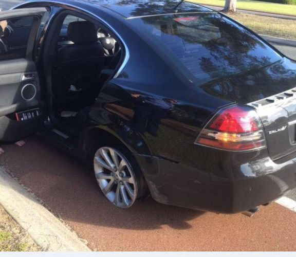 The car with the worn rim. Picture: WA Police/Facebook
