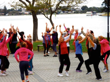 Fit and Flexi sessions are just one of the programs covered in Outdoors October.