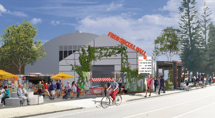 An artist's impression of the new venue.