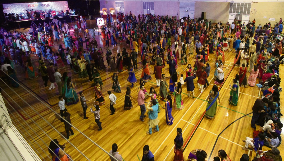Perth's Hindu community dance at the Navrang Festival.