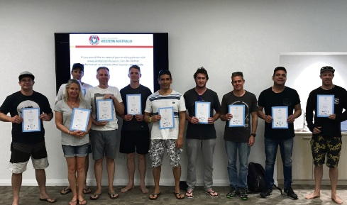 Participants with their certificates.