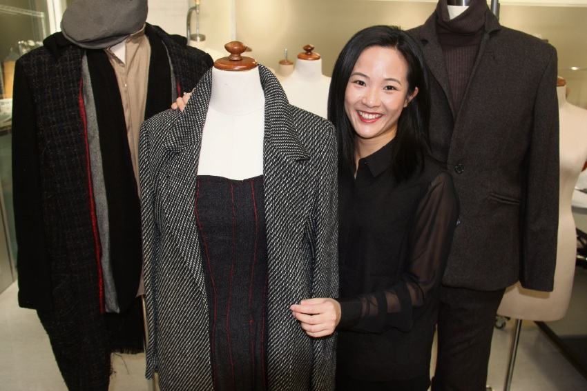 Melissa Pei-Sun Goh with her designs.