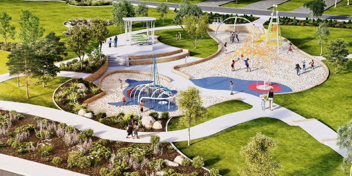 An artist's impression of the Constellation Park playground.