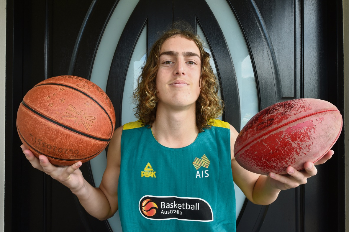 Willetton SHS student Luke Jackson will soon have to decide between chasing his AFL or basketball dream. Picture: Jon Hewson d474056