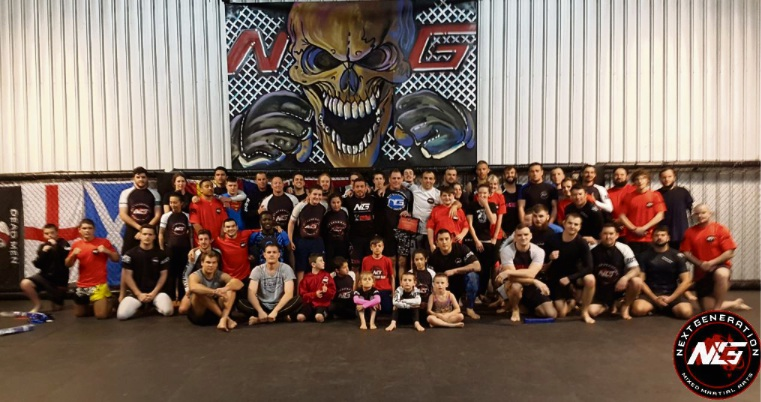 Next Generation MMA Mandurah gym goers received belt upgrades from UFC legend Chris 'The Westside Strangler' Brennan.