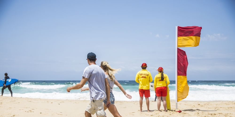 Surf Life Saving Western Australia reminds swimmers to stay between flags