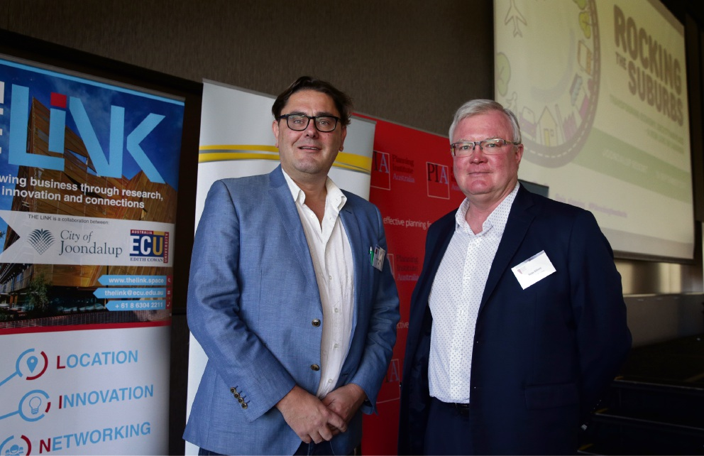 Ray Haeren (president Planning Institute of Australia WA) and Ross Elliott (executive director Suburban Alliance). Picture: Martin Kennealey d474018