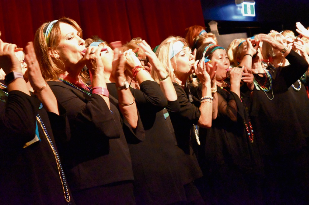 The Born to Sing Choir performing at sell out concerts for the 2017 Perth Festival Fringe.