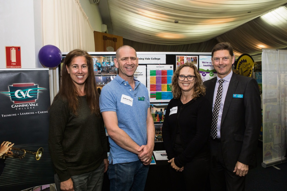 Canning Vale College staff (L-R) Angela Somerville, Andy Gray, Miranda Cooke and Peter Rudrum.