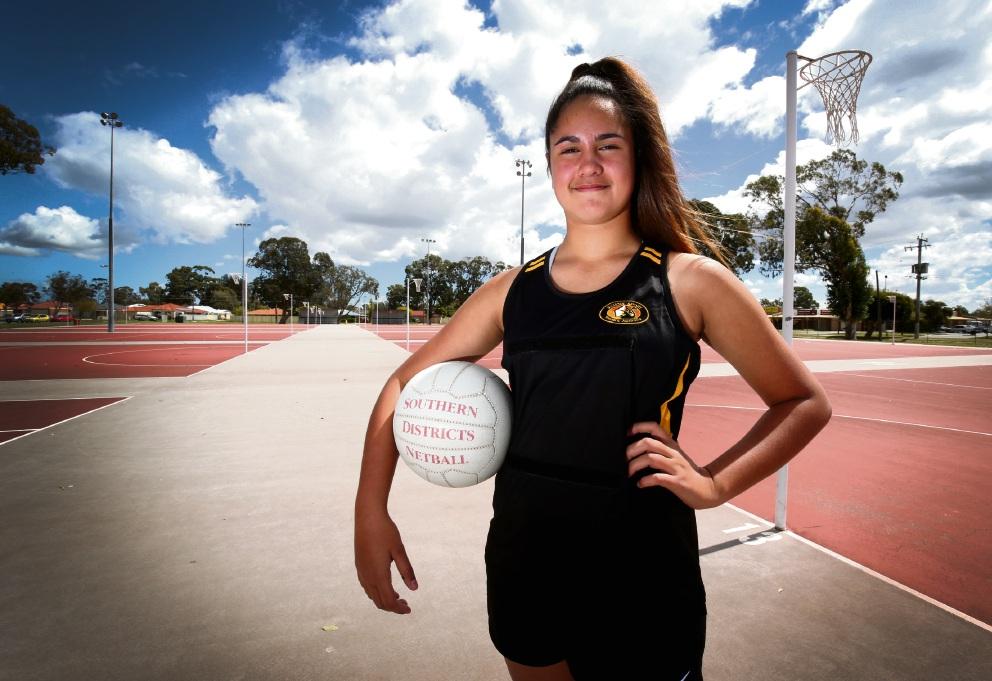 Jacinta Cooper has been named to the State Under 12 Netball Schoolgirls' team. Picture: Matt Jelonek