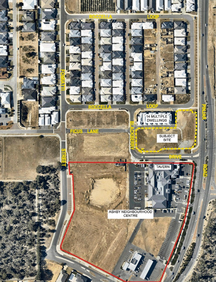 The Ashby site for rezoning.
