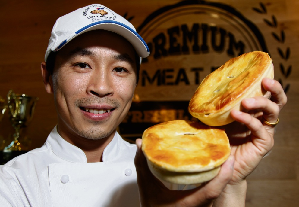 Tommy Nguyen with his winning mince pies. Picture: Marie Nirme d474330