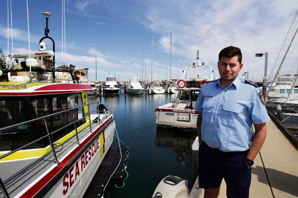 Fremantle Sea Rescue's Josh Gammon-Carson. Picture: Martin Kennealey    d473930