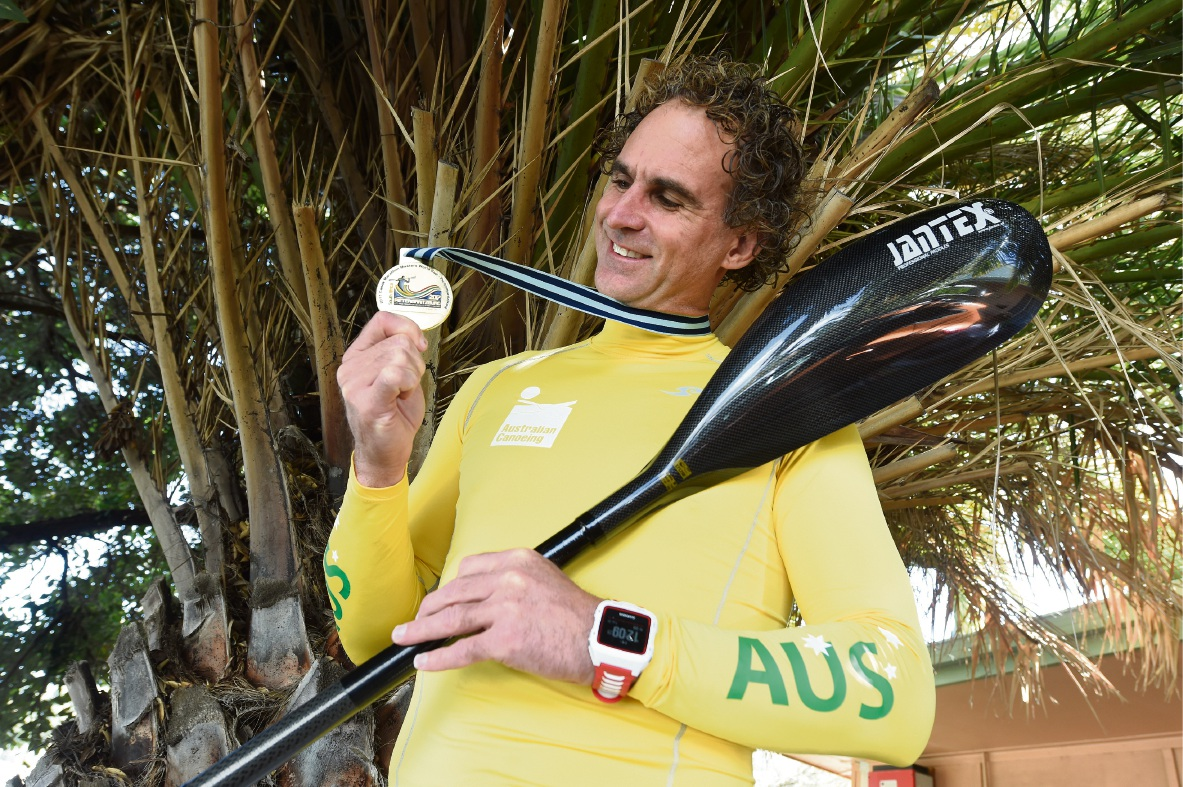 Brett McDonald with his medal from the competition in South Africa. Picture: Jon Hewson www.communitypix.com.au   d474351
