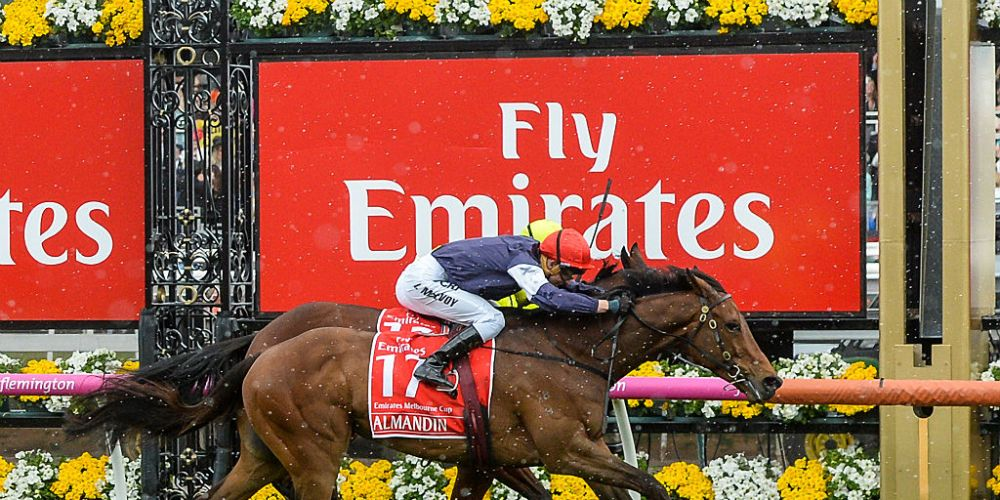 Almandin wins last year's Melbourne Cup. Photo: Getty