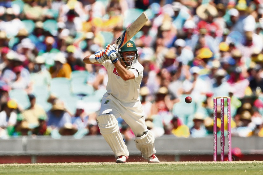 Michael Hussey in action for Australia. Picture: Getty Images