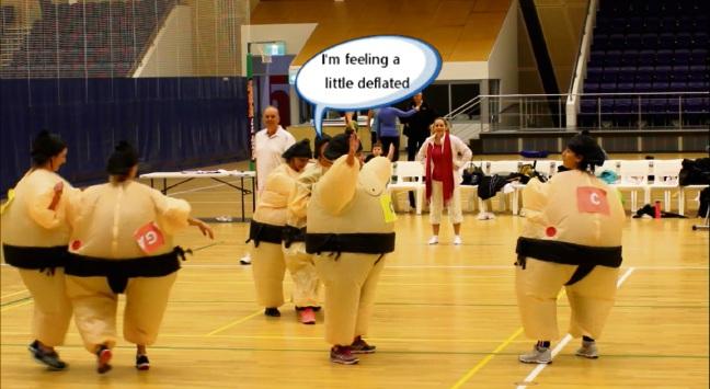 Scarborough Netball Club celebrates season with fun sumo netball game