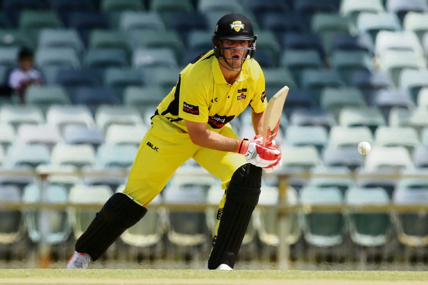 Mitch Marsh in action.