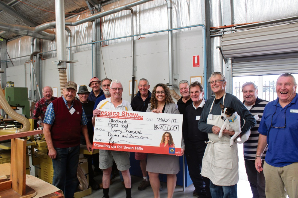 $20,000 in funding to benefit Ellenbrook Men's Shed