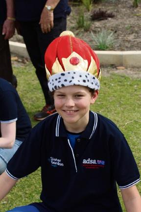 Mason Dymnicki won the Northam ADSA 'walk around town' crown. Picture: Asbestos Diseases Society of Australia Inc