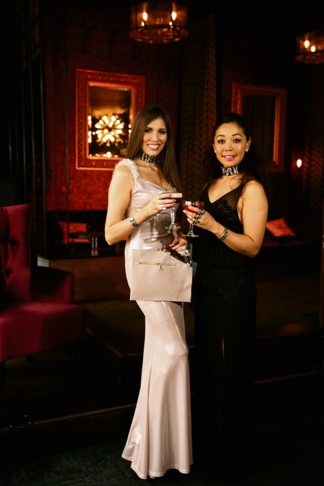 Sophie Kerrigan is launching Fashionista Friday at Voyeur Bar, with help from designer Keiko Uno.  Picture: Andrew Ritchie d474212