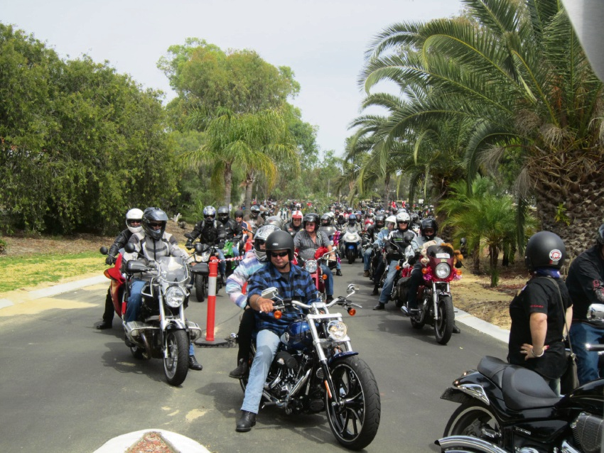 Riders in last year's Motorcycle Charity Toy Ride.